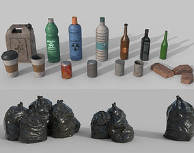 3D model Urban Garbage Small Pack