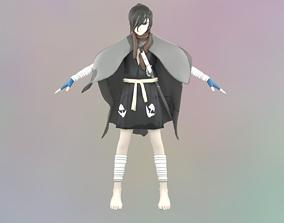 HyakkiMaru T-Pose Model rigged Animated Gameready animated