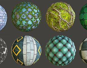 3D Stylized East Castle Materials