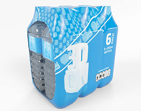 3D 6 Pack shrinkwrapped water bottles