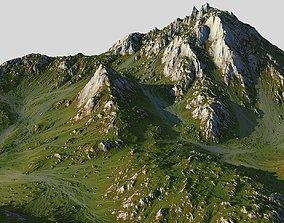 3D asset Grass Map Mountains