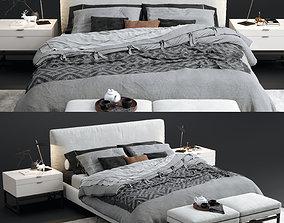 3D model Minotti Andersen bed
