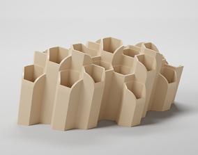 house 3D print model HEXAGONAL PEN HOLDER