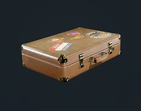 Leather Suitcase Luggage Travel Hotel Game 3D model