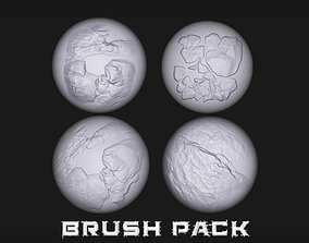 blender 15 Stylized Stone and Cracks Alphas 3D