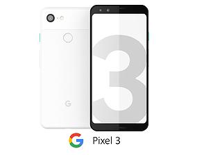 3D Google Pixel 3 White
