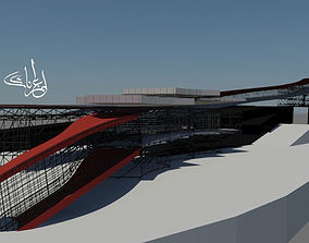 Bus Station and Transportation Terminal 3D