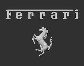 3D print model Ferrari logo italian