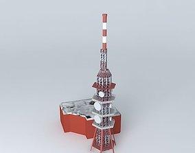 3D model Transmitter Sitno Sitno broadcaster