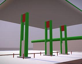 3D asset Gas Filling station