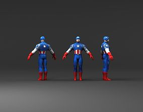 Captain America 3d models hd low poly VR / AR ready