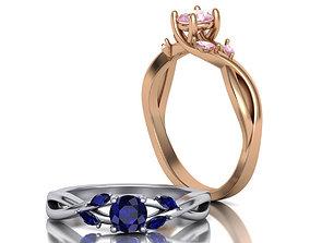 Unique Engagement ring 0137 3D print model
