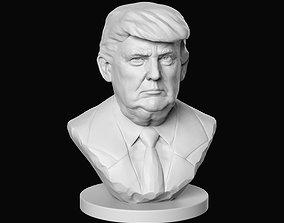 marble Donald Trump 3D print model