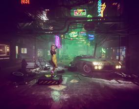 3D model cyberpunk - Cyber City