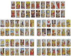 3D model game-ready Deck Of Tarot Cards