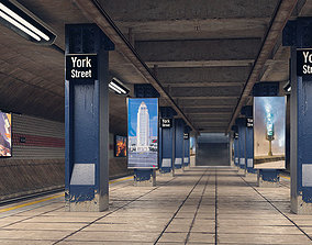 3D new Subway Station Interior