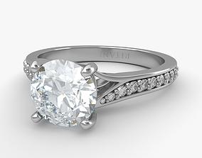 3D Engagement Diamond Ring