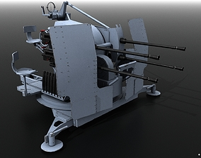 German 20mm Flak 38 Vierling 3D model