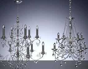 3D Crystal Chandelier set