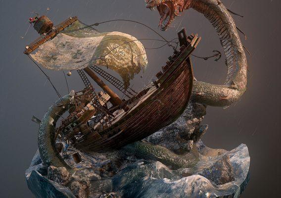 Cog Ship Battle by Joel Zakrisson