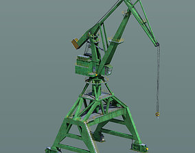 Crane for shipyard container terminal or port 3D model