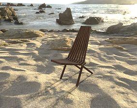Wood chair 3D asset