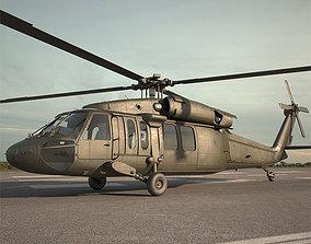 3D model Sikorsky UH-60 Black Hawk black