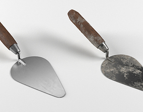 Cement Spatula Dirty and Clean 3D model