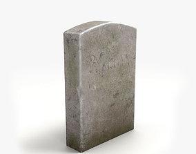 Lowpoly Tombstone 3 3D model