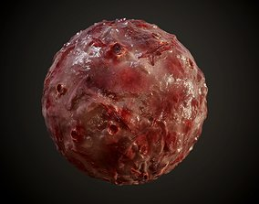 Skin Guts Bloody Burn Warts Seamless PBR Texture 3D model