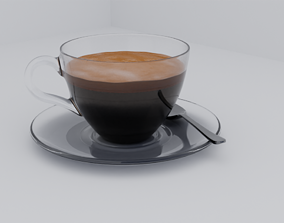 Coffee with crema 3D model
