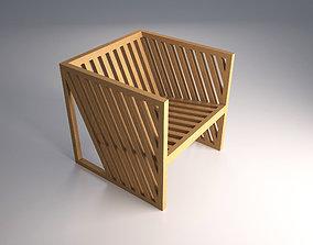 3D model VR / AR ready Cubic chair