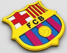FC Barcelona Coat of Arms 3D