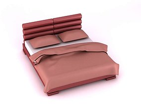3D Modern Deco Purple Bed