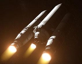 3D Rocket spaceship