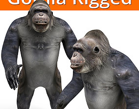 gorilla Rigged 3D Models game ready rigged