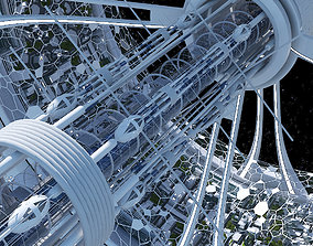 Futuristic Space Colony B 3D