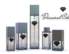 Diamond Collection cosmetics bottles 3D