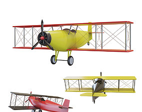 3D model Simple Small Airplane many PBR Option Colors