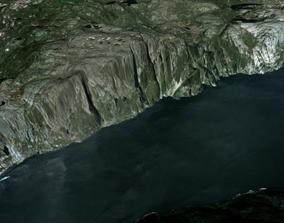 mountain 3D Preikestolen Pulpit rock Norway