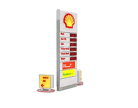 Petrol Station Totem Sign and Orientation Sign 3D