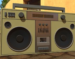 3D model Low-poly game ready boombox - 2 color schemes