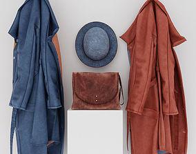 3D coats hat and handbag