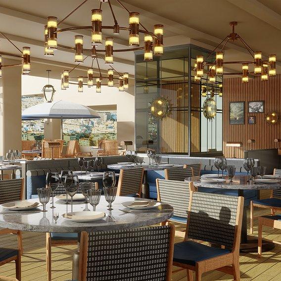 The breakfast lounge