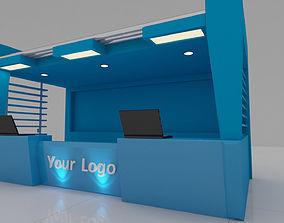 3D model Office Reception