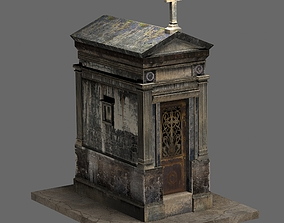 3D Old Weathered Mausoleum