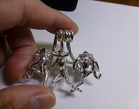 Three wise monkeys 3D printable model