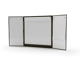 3D model Three Panel Folding White Board