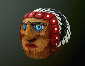Indian head 3D asset