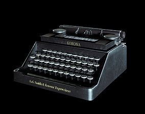 3D model VR / AR ready typewriter